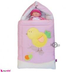قنداق فرنگی تترون صورتی جوجه Baby Sleeping Bag