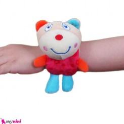 جغجغه مچی پولیشی نوزاد خرسی Wrist Rattle