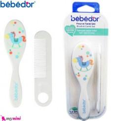 شانه و برس نوزاد و کودک اسب ببدور Bebedor Brush and Comb Set