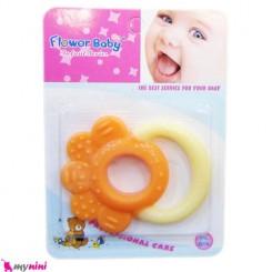 دندانگیر ژله ای نوزاد گل زرد نارنجی Flower Baby Soother