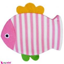لیف عروسکی نوزاد و کودک ماهی صورتی Bathing glove
