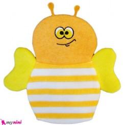لیف عروسکی نوزاد و کودک زنبور نارنجی Bathing glove
