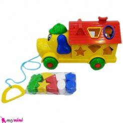 ماشین لِگو سگ فکری و آموزشی کودک Happy Puppy Educational Toy