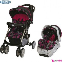ست کالسکه و کریر بیس دار گراکو Graco Ariel Collection Stroller
