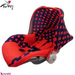 کریر نوزاد قرمز خال خال ترکیه Infant Car Seat