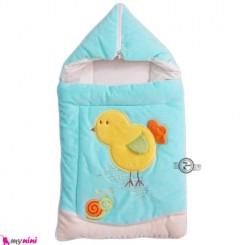 کیسه خواب مخمل فیروزه ای جوجه Baby Sleeping Bag