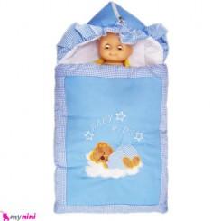 قنداق فرنگی تترون آبی خرس خوابیده Baby Sleeping Bag