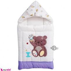 قنداق فرنگی نوزاد تترون یاسی خرس نشسته Baby Sleeping Bag