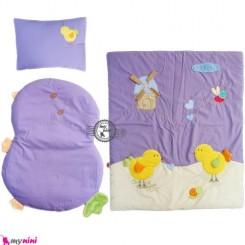 لحاف تشک بالش تترون نوزاد و کودک یاسی جوجه Sleeping Set
