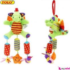 آویز کریر و آویز تخت جغجغه ای دایناسور تولو Tolo toys