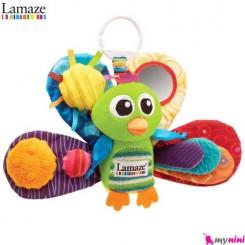 آویز کریر و آویز تخت جغجغه ای طاووس لمِیز Lamaze toys