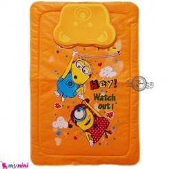 زیرانداز بالش دار نایلونی نوزاد مینیون نارنجی Diaper Changing Mat