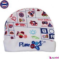کلاه کشی نوزاد و کودک هواپیما Cotton Hat