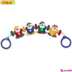 آویز کریر و کنار تخت نوزاد دلقک تولو TOLO Toys