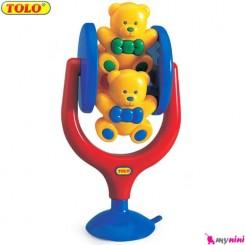 خرس تدی تولو اسباب بازی چرخشی TOLO Toys