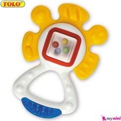 جغجغه و دندانگیر گل نوزاد و کودک تولو TOLO Toys