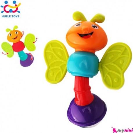 جغجغه و دندانگیر پروانه هویلی تویز Huile Toys