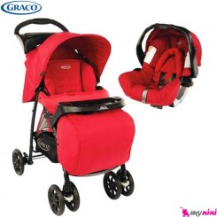 کالسکه و کریر قرمز میراژ گراکو Graco Mirage Travel System