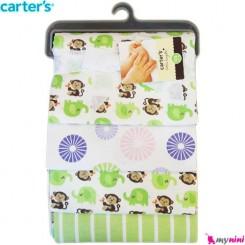 خشک کن و روانداز 4 عددی فیل سبز و میمون کارترز Carters blanket