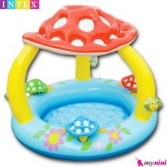 استخر بادی و محوطه بازی قارچ کودک اینتکس Intex mushroom baby pool