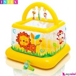 قصر بادی و محوطه بازی کودک شیر اینتکس Intex soft sides baby gym