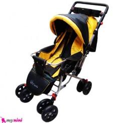 کالسکه یوفو زرد مشکی دلیجان Delijan Ufo stroller