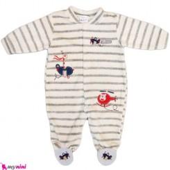سرهمی مخمل هواپیما نوزاد و کودک بالِدی Baledi Baby sleepsuit