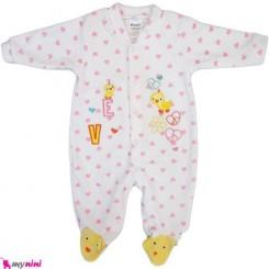 سرهمی مخمل جوجه نوزاد و کودک بالِدی Baledi Baby sleepsuit