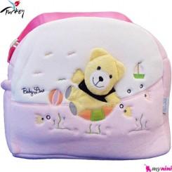 ساک لوازم نوزاد پولیشی خرس صورتی بِی بی لاین ترکیه Baby line diaper bag