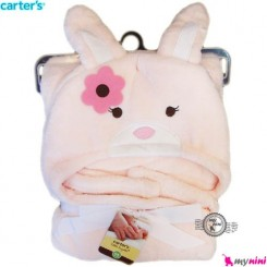 پتو کلاه دار نوزاد و کودک خرگوش گل بهی کارترز carter's blanket