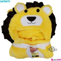 پتو کلاه دار شیر نوزاد و کودک کارترز Carter's hooded blanket