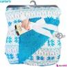پتو دورپیچ نوزاد و کودک طرح سنتی کارترز Carters baby blanket