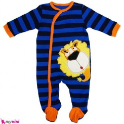 سرهمی نخی نوزاد و کودک 3 تا 6 ماه شیر نابی Nuby Baby cotton sleepsuit