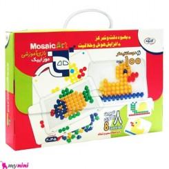 اسباب بازی مهره های رنگی موزائیکی کودک Educational toys