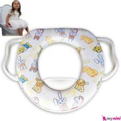 تبدیل توالت فرنگی کودک سفید خرگوش Baby toilet trainer