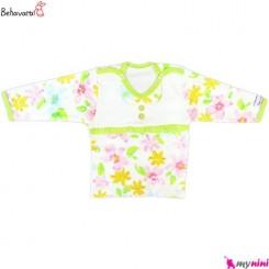 بلوز آستین بلند نوزاد و کودک طرح رنگارنگ به آوران Behavaran Baby Clothes