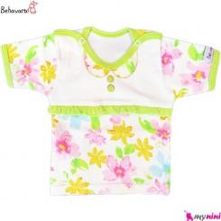 بلوز آستین کوتاه نوزاد و کودک طرح رنگارنگ به آوران Behavaran Baby Clothes