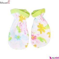 دستکش نوزاد و کودک طرح رنگارنگ به آوران Behavaran Baby Clothes
