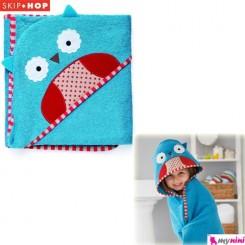 حوله حمام کلاهدار نوزاد و کودک جغد اسکیپ هاپ Skip Hop baby towel