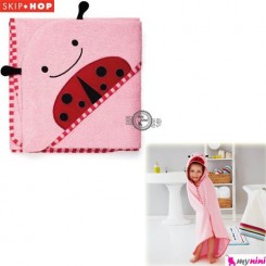 حوله حمام کلاهدار نوزاد و کودک کفشدوزک اسکیپ هاپ Skip Hop baby towel