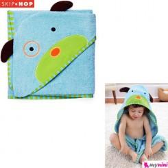 حوله حمام کلاهدار نوزاد و کودک سگ اسکیپ هاپ Skip Hop baby towel
