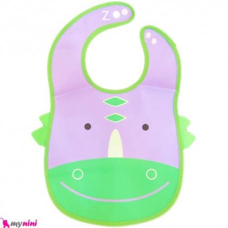 پیشبند ضد آب کاسه ای نوزاد و کودک کروکودیل Baby Bib