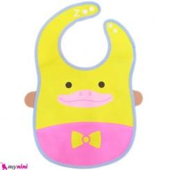 پیشبند ضد آب کاسه ای نوزاد و کودک جوجه اردک Baby Bib