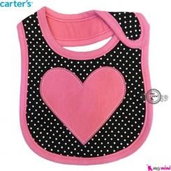 پیشبند 3 لایه نوزاد و کودک قلب کارترز Carters baby Bib