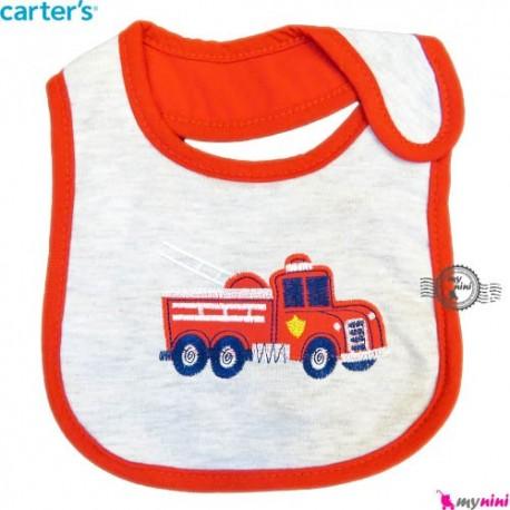 پیشبند 3 لایه نوزاد و کودک قرمز ماشین کارترز Carters baby Bib
