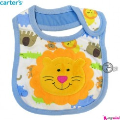 پیشبند 3 لایه نوزاد و کودک شیر و حیوانات کارترز Carters baby Bib
