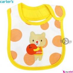 پیشبند کارترز زرد گربه سه لایه Carters baby Bib
