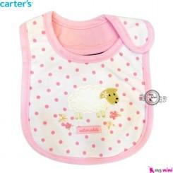 پیشبند 3 لایه نوزاد و کودک صورتی گوسفند کارترز Carters baby Bib