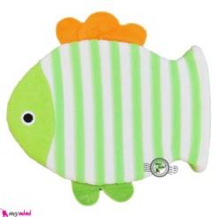 لیف عروسکی دستی بچه ماهی سبز باله نارنجی Baby bathing glove