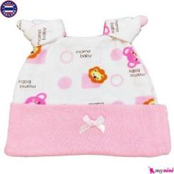 کلاه کشی نخی نوزاد و کودک 2 گره تایلندی Newborn cotton hat